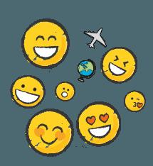 Des emojis pour découvrir le monde